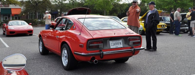 Classic Sports Car Showcase -- Datsun 240Z at Cars & Coffee -- Immaculate in 30 Glowing Orange Photos 19