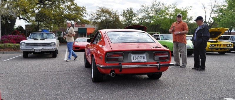 Classic Sports Car Showcase -- Datsun 240Z at Cars & Coffee -- Immaculate in 30 Glowing Orange Photos 20