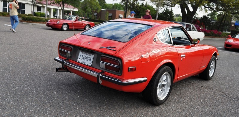 Classic Sports Car Showcase -- Datsun 240Z at Cars & Coffee -- Immaculate in 30 Glowing Orange Photos 24