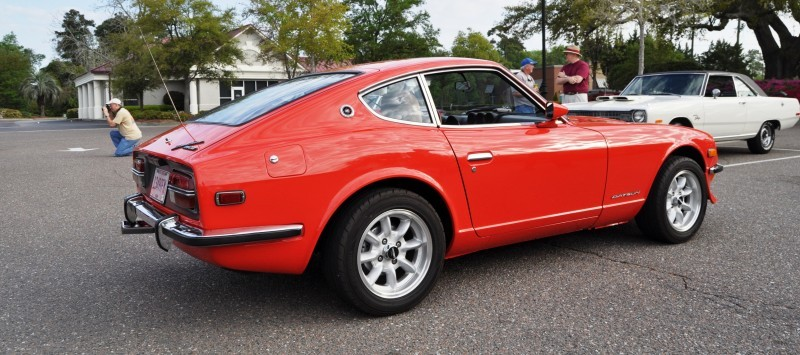 Classic Sports Car Showcase -- Datsun 240Z at Cars & Coffee -- Immaculate in 30 Glowing Orange Photos 25