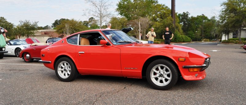 Classic Sports Car Showcase -- Datsun 240Z at Cars & Coffee -- Immaculate in 30 Glowing Orange Photos 28