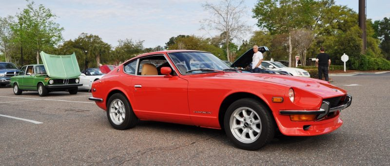 Classic Sports Car Showcase -- Datsun 240Z at Cars & Coffee -- Immaculate in 30 Glowing Orange Photos 29