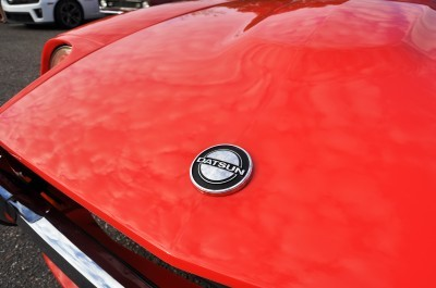 Classic Sports Car Showcase -- Datsun 240Z at Cars & Coffee -- Immaculate in 30 Glowing Orange Photos 31