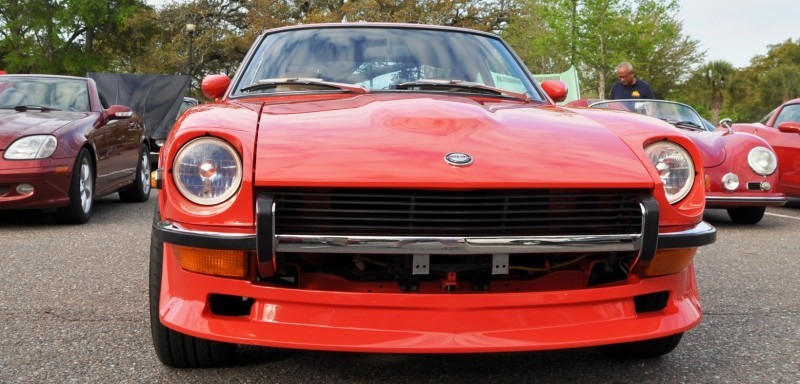Classic Sports Car Showcase -- Datsun 240Z at Cars & Coffee -- Immaculate in 30 Glowing Orange Photos 4