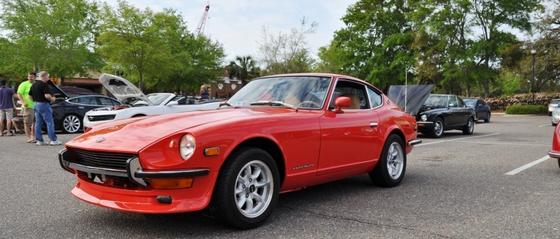 Classic Sports Car Showcase -- Datsun 240Z at Cars & Coffee -- Immaculate in 30 Glowing Orange Photos 9