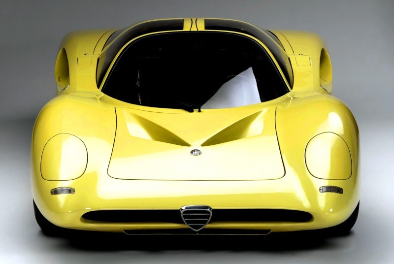 Concept Flashback -- 1969 Alfa-Romeo Tipo 332 Coupe Speciale -- Gullwing Mid-Engine Supercar That Never Was 1