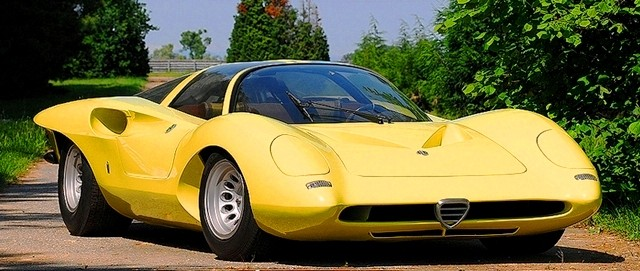 Concept Flashback -- 1969 Alfa-Romeo Tipo 332 Coupe Speciale -- Gullwing Mid-Engine Supercar That Never Was 11