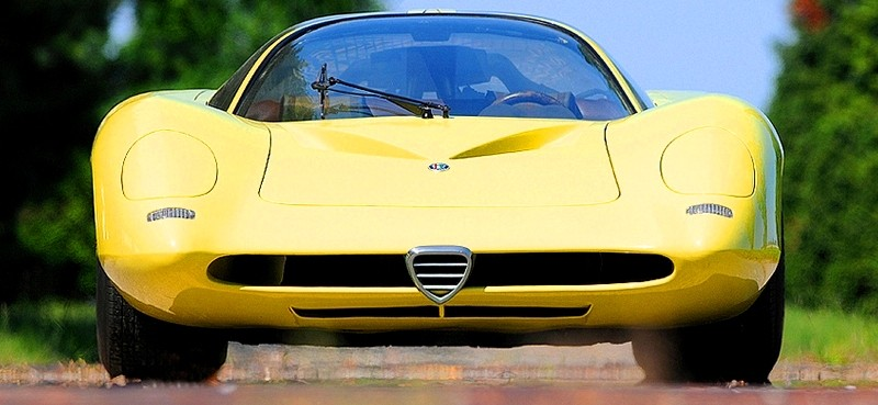 Concept Flashback -- 1969 Alfa-Romeo Tipo 332 Coupe Speciale -- Gullwing Mid-Engine Supercar That Never Was 14