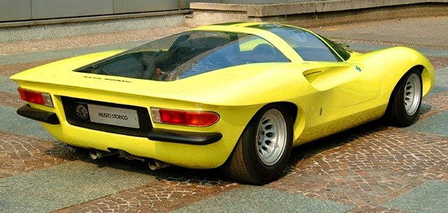 Concept Flashback -- 1969 Alfa-Romeo Tipo 332 Coupe Speciale -- Gullwing Mid-Engine Supercar That Never Was 17