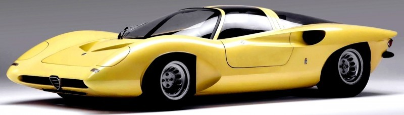 Concept Flashback -- 1969 Alfa-Romeo Tipo 332 Coupe Speciale -- Gullwing Mid-Engine Supercar That Never Was 2