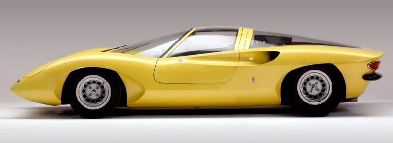 Concept Flashback -- 1969 Alfa-Romeo Tipo 332 Coupe Speciale -- Gullwing Mid-Engine Supercar That Never Was 3