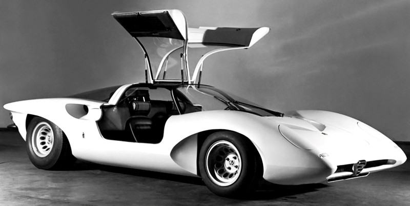 Concept Flashback -- 1969 Alfa-Romeo Tipo 332 Coupe Speciale -- Gullwing Mid-Engine Supercar That Never Was 8