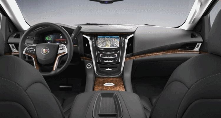 Escalade ESV Black Interior Leather GIF