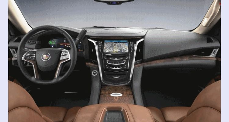 Escalade ESV KONA BROWN Interior Leather GIF