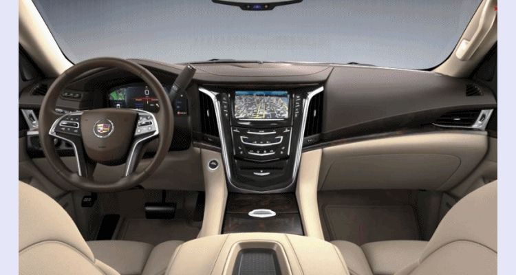 Escalade ESV Tan Interior Leather GIF