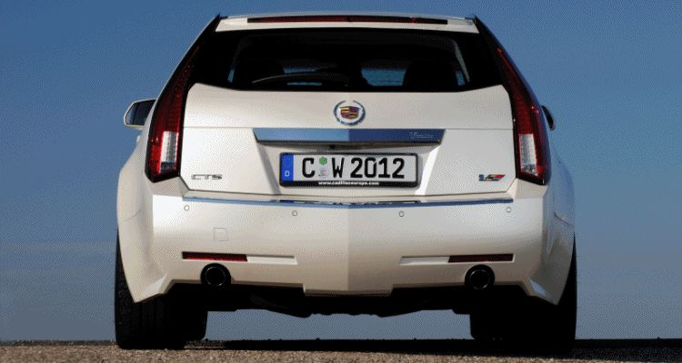 Header white Cadillac CTS-V Wagon