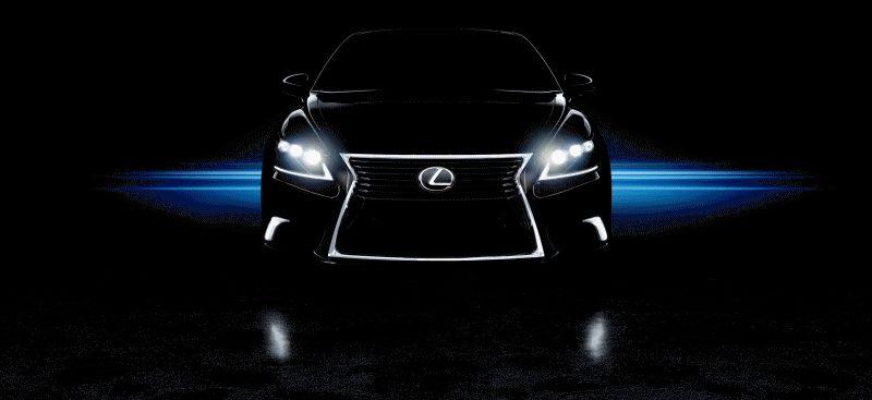 Lexus LS Animated GIF