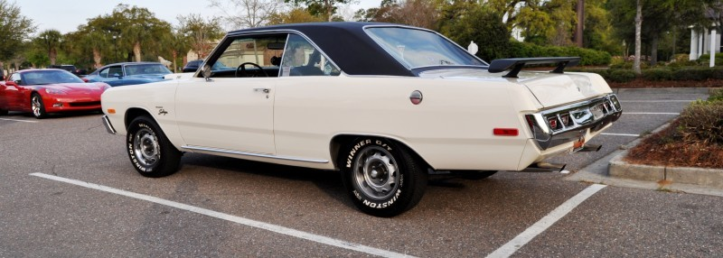 Mini Musclecar Is Ready To Boogie! 1973 Dodge Dart Swinger at Charleston, SC Cars and Coffee 13