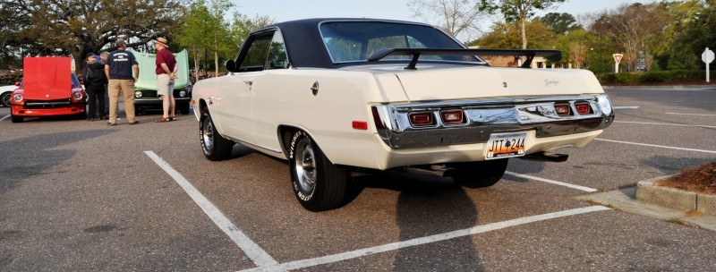 Mini Musclecar Is Ready To Boogie! 1973 Dodge Dart Swinger at Charleston, SC Cars and Coffee 15