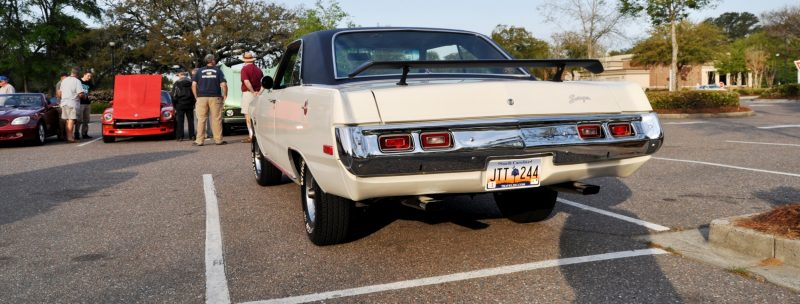 Mini Musclecar Is Ready To Boogie! 1973 Dodge Dart Swinger at Charleston, SC Cars and Coffee 16