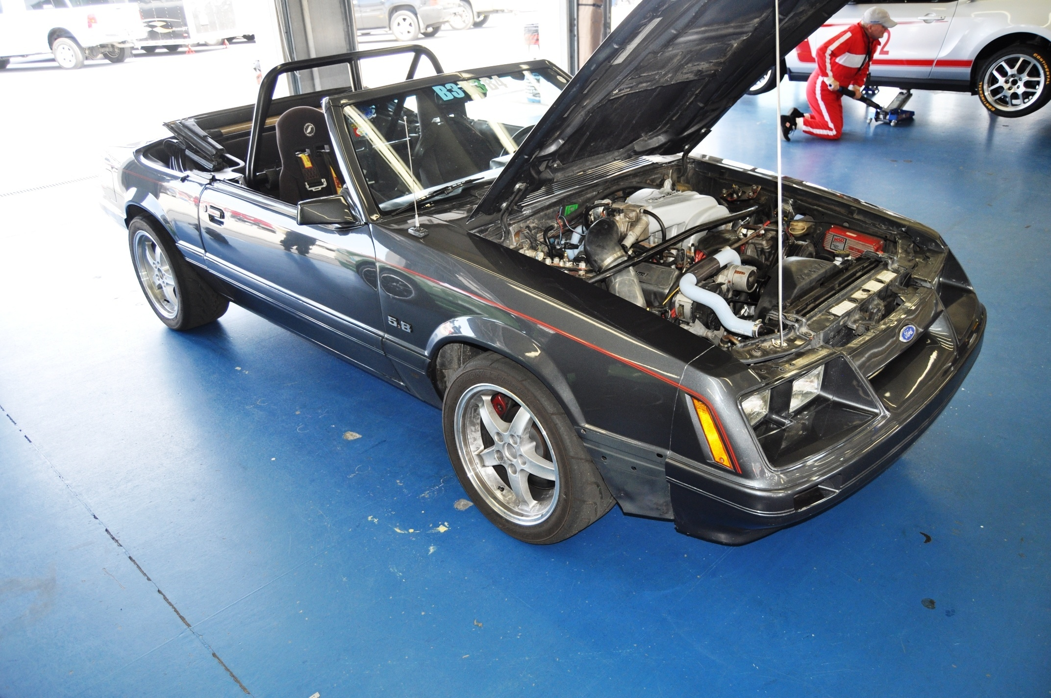 Race Prepped 1986 Mustang Gt Convertible Ford 50th Anniverary Showcase 150000 13
