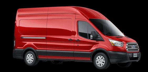 RED 2015 FORD Transit Cargo Van