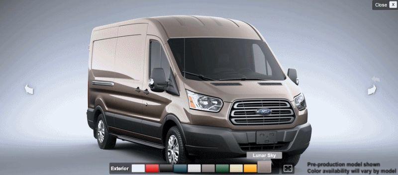 TAN 2015 FORD Transit Cargo Van