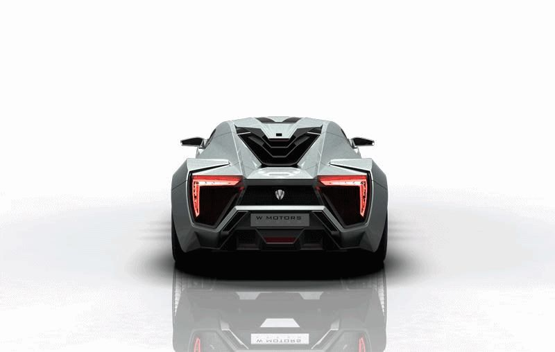 WHITE Lykan Hypersport Turntable Animated GIF