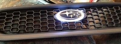 subaru DIY LED badge - indoor testing - emblem comparisons_8072300781_l