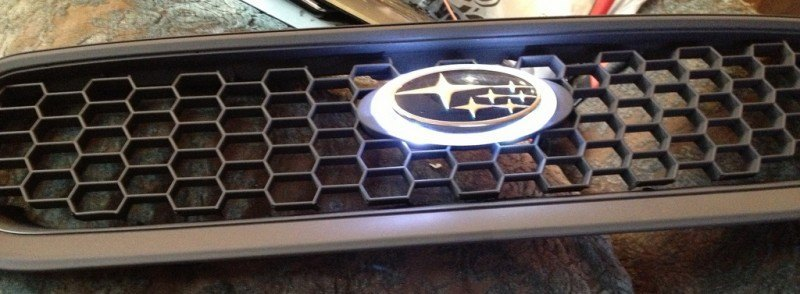 subaru DIY LED badge - indoor testing - emblem comparisons_8072300781_l
