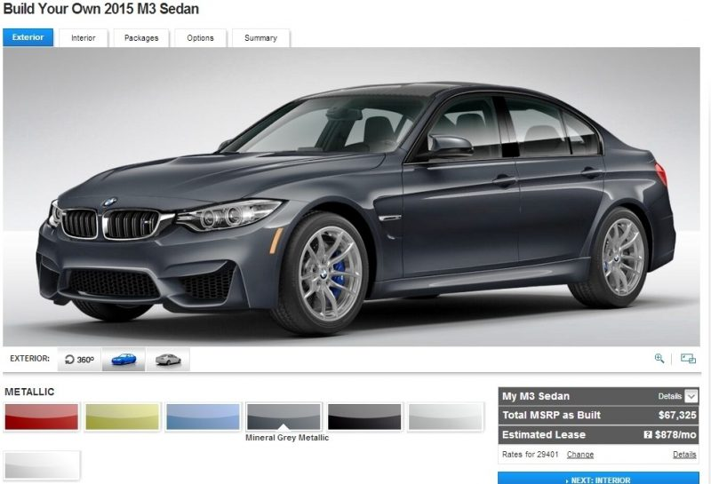 Car-Revs-Daily.com Builds 2015 BMW M3 4