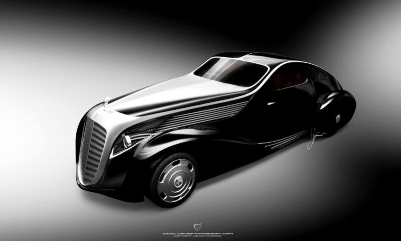 Car-Revs-Daily.com Compares Ugur Sahin Design's 2014 RR Round Door Coupe with Original 1925-34 Jonkheere 1