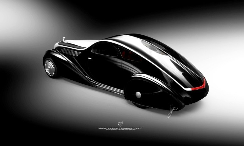 Car-Revs-Daily.com Compares Ugur Sahin Design's 2014 RR Round Door Coupe with Original 1925-34 Jonkheere 3