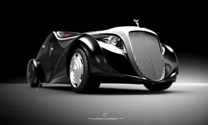 Car-Revs-Daily.com Compares Ugur Sahin Design's 2014 RR Round Door Coupe with Original 1925-34 Jonkheere 6