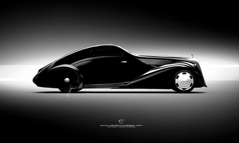 Car-Revs-Daily.com Compares Ugur Sahin Design's 2014 RR Round Door Coupe with Original 1925-34 Jonkheere 7