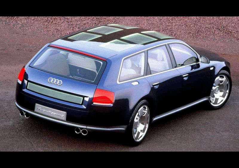 Concept Flashback - 2001 Audi Avantissmo is A8 Dreamwagon... Directly Influenced 2015 Bentley Falcon GIF2