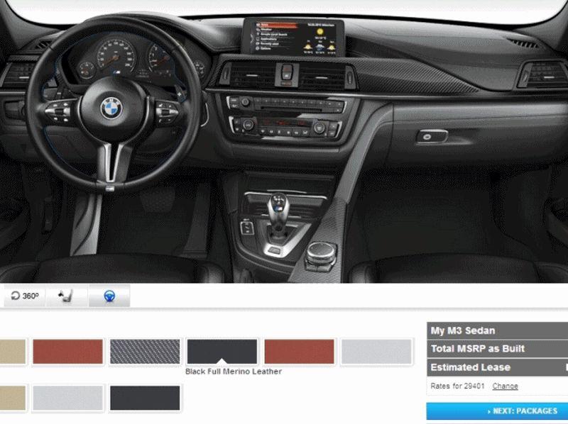 M3 interior colors GIF