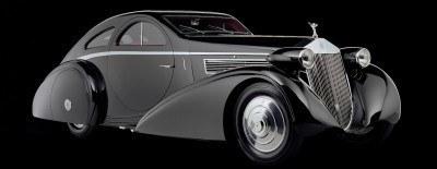 Peterson Auto Museum - 1925 Rolls-Royce Phantom I - 1934 Jonkheere Round Door Aero Coupe 29