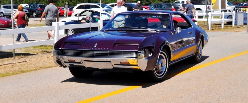 The Mitty's Most Curious Parade Lapper - 1966 Oldsmobile Toronado in Riddler Purple 1