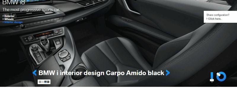 2015 BMW i8 Inside