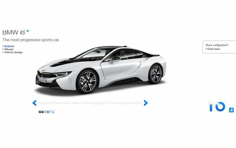 2015 BMW i8 in White GIF Doors