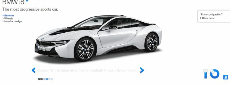 2015 BMW i8 in White GIF Exterior and Doors2222222