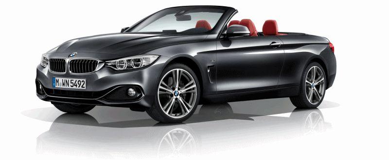 BMW 435i Convertible Grey GIF