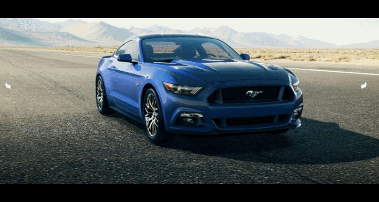 Car-Revs-Daily.com - 2015 Ford Mustang - BLUE GIF Turntable