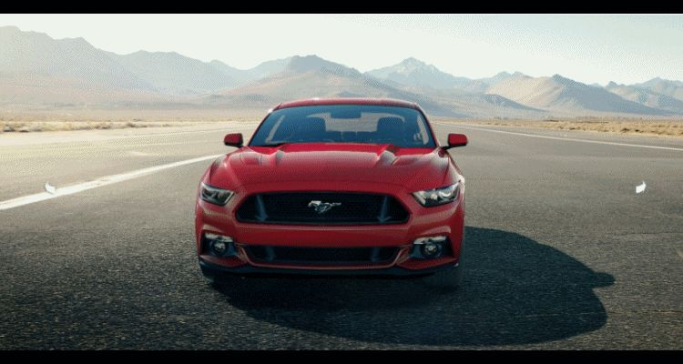 Car-Revs-Daily.com - 2015 Ford Mustang - RACE RED GIF Turntable