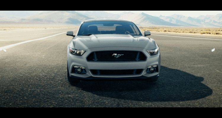 Car-Revs-Daily.com - 2015 Ford Mustang - SILVER GIF Turntable