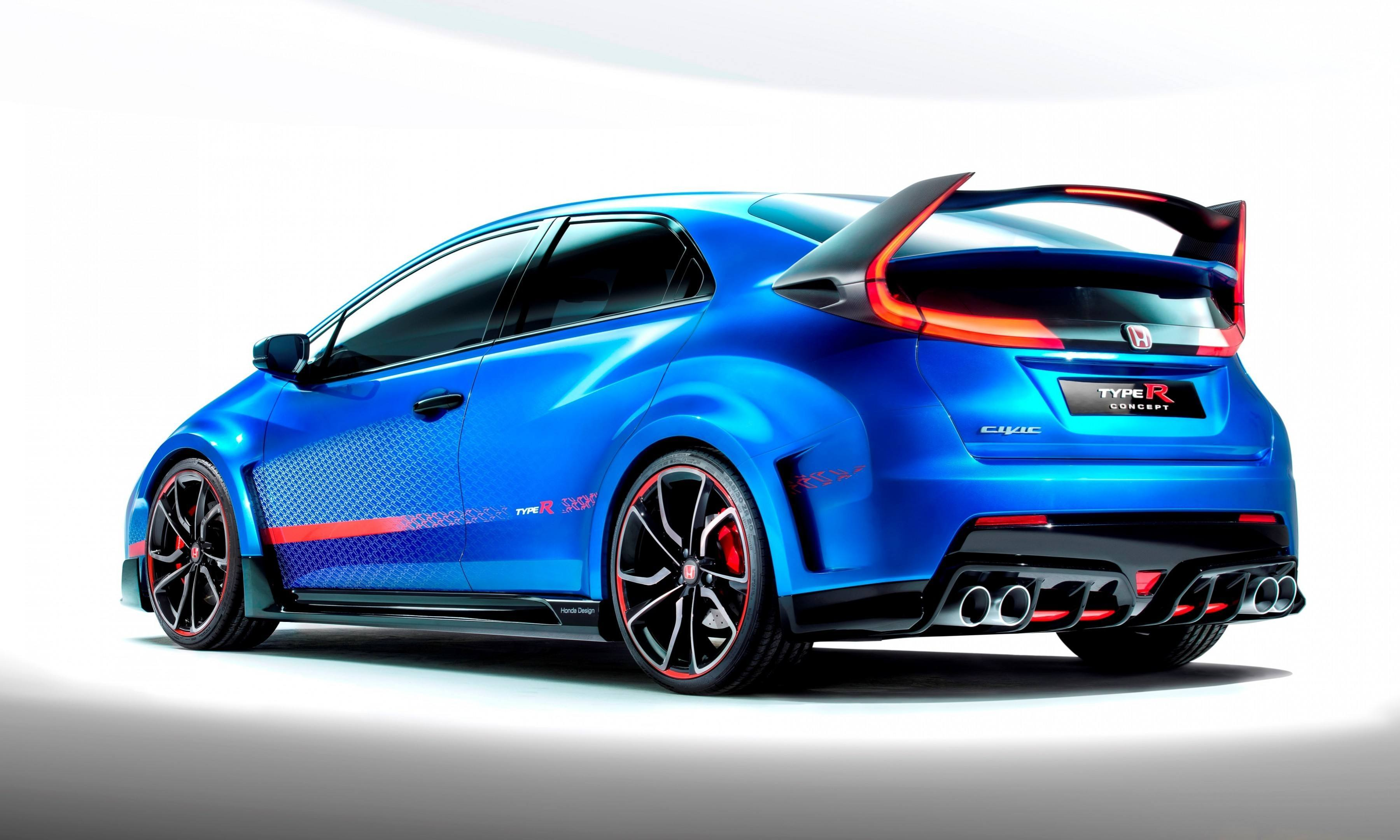2015 honda civic type r previewed by crisp and clean new paris concept. Black Bedroom Furniture Sets. Home Design Ideas