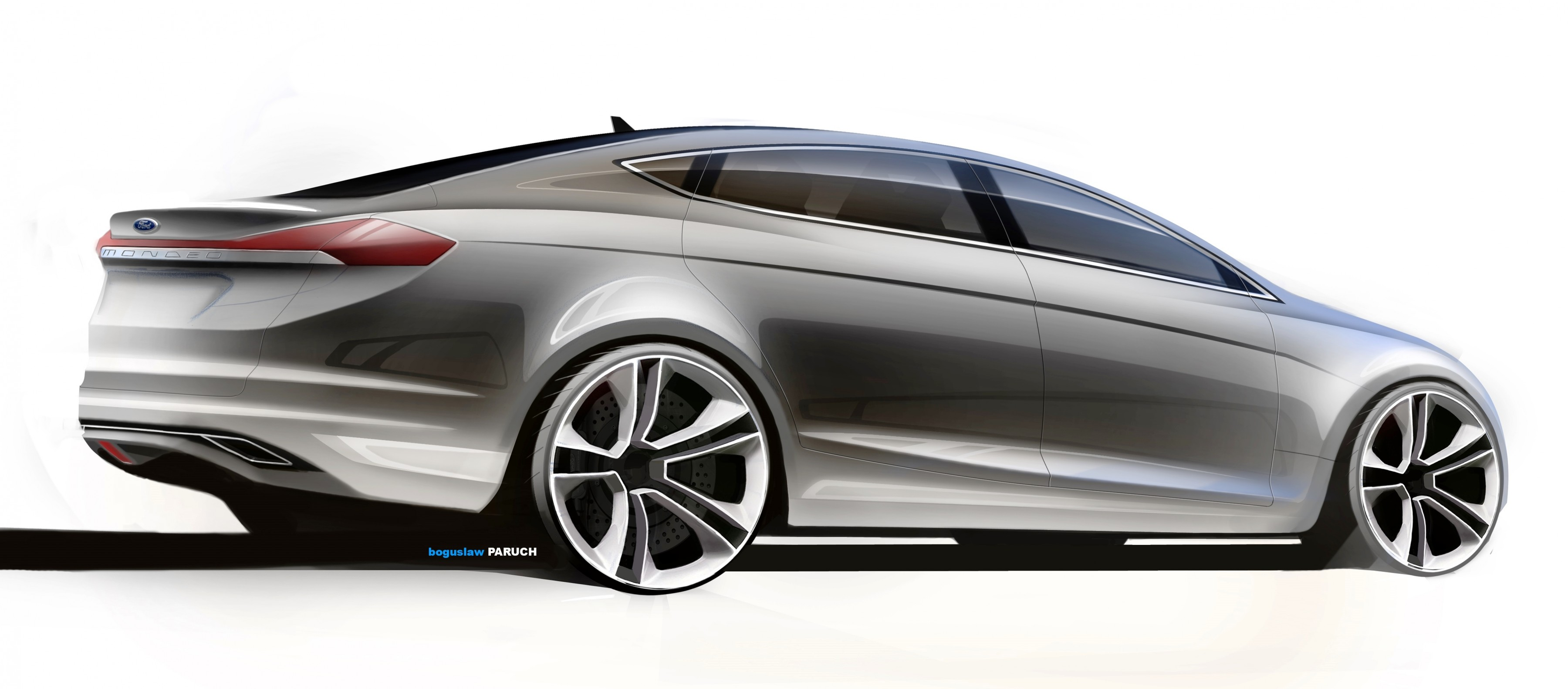 Ford Advanced Design Sketches Show Direction of 2016 Taurus Redesign