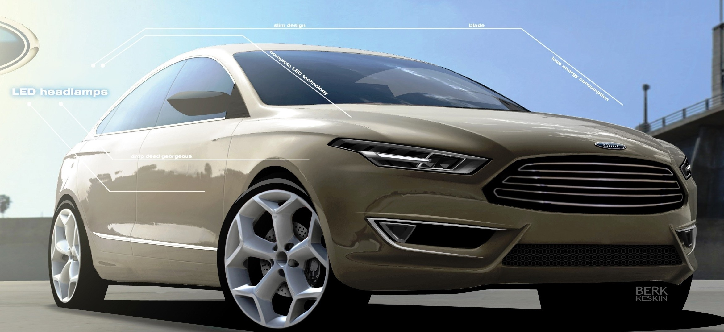 Ford Advanced Design Sketches May Show Direction of 2016 Taurus Redesign