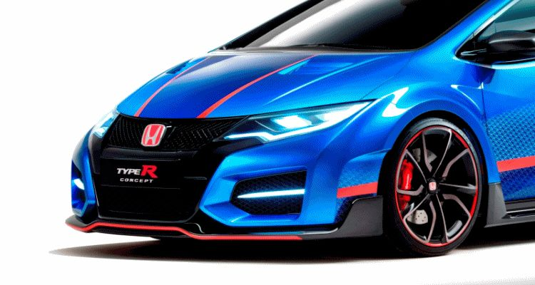 Civic Type R concept paris gif